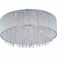 ET2 E2313310PC Spiral 7-light Flush Mount Crystal Ceiling Light