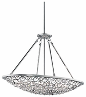 Kichler 42666CH Liscomb Large Crystal Duo-mount Semi-flush Ceiling Light and Stem-mounted Pendant