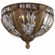ELK 2493-4 Millwood Trump 4-Light Crystal Flush-Mount Ceiling Fixture