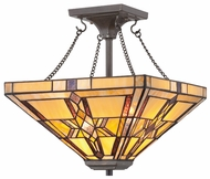 Quoizel TFFT1714VB Finton Medium Semi-flush Tiffany Ceiling Light