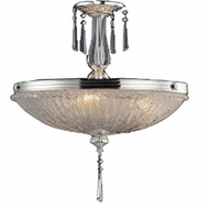 ELK 2394-3 Princess Polished Silver 13 inch Crystal Semi-Flush Ceiling Fixture
