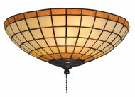 Landmark 990-A Diamond 2 Light Tiffany Flushmount Ceiling Fixture