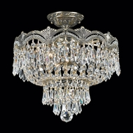 Crystorama 1483 Flight 14 inch crystal semi flush mount in Historic Brass