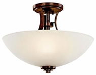 Kichler 42605OI Coburn Rustic Wrought Iron Semi-flush Ceiling Light