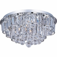 ET2 E2325720PC Bangle Small 12-lamp Flush Mount Crystal Ceiling Light