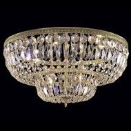Crystorama 718 Myriad 18 inch crystal flush mount in Olde Brass finish