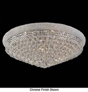 Worldwide 33012 Worldwide 20-light Crystal Flush-Mount Ceiling Light