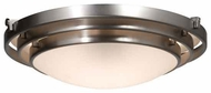 Artcraft AC2822 Springfield Medium Contemporary Flush-Mount Ceiling Light with Brushed Nickel
