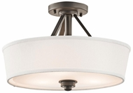 Kichler 42441OZ Glissade Small Convertible Semi-flush Mount/Pendant Light