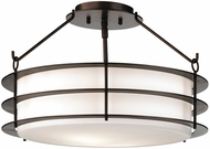 Forecast F1546-68 Hollywood Hills Contemporary Deep Bronze Semi-Flush Ceiling Light