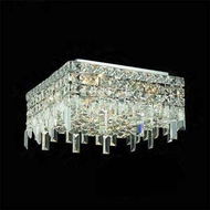 Worldwide 33616 Worldwide 12  4-light Semi-Flush Ceiling Light w/ Accent