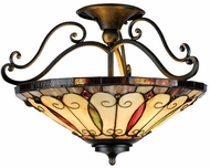 Quoizel TF1040IB Felice Tiffany Ceiling Light Fixture in Imperial Bronze