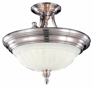 Feiss SF140BS Neo Classic Small Contemporary Style Semi-Flush Ceiling Light