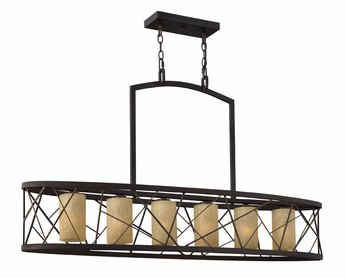 Fredrick Ramond 41616ORB Nest Large 6-lamp Kitchen Island Lighting