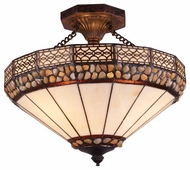 Landmark 700753 Stone Filigree Semi-Flush Ceiling Light