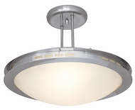 Access ET Series Brushed Steel Halogen Ceiling Light
