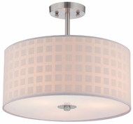 Lite Source LS5291 Hedva Large 3-light Semi Flush Mount Ceiling Light Fixture