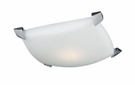 PLC 7624-PC Vizio Contemporary Flush-Mount Ceiling Fixture - 15 inches wide