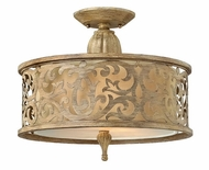 Fredrick Ramond 44621BCH Carabel 2-light Semi Flush Ceiling Light Fixture