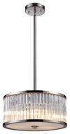 ELK 10128/3 Braxton Crystal Small Pendant Light/Semi-Flush Ceiling Light