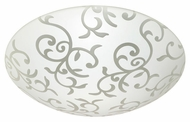 Besa 2CS9039 Slipstream Slim Fluorescent Flush Mount Ceiling Light Fixture