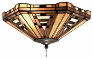 Landmark 990F American Art Tiffany Flush Mount Ceiling Light