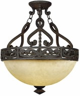 Quoizel LP1717IB La Parra 3-Light Semi-Flush in Imperial Bronze