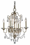Feiss F24764GS Gianna 4-Light Mini Chandelier / Semi-Flush Ceiling Light
