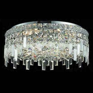 Worldwide 33608 Worldwide 20  6-light Crystal Semi-Flush Ceiling w/ Accent