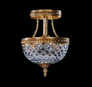 Crystorama 118-8-CH Serene 8 inch crystal semi flush mount in OldeBrass