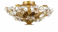 Crystorama 4600-GL Paris Flea Market 16 inch semi flush mount in gold leaf finish