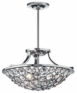 Kichler 42669CH Liscomb Small Duo-mount Crystal Semi-flush Ceiling Light and Stem-mounted Pendant