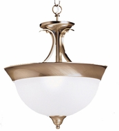 Kichler 3623 Dover 3 Light 15 Inch Flushmount with Seedy Glass