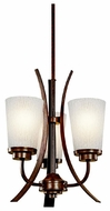 Kichler 42600OI Coburn Rustic Iron Tri-mount Mini Chandelier/Semi-flush Ceiling Light/Wall Mount