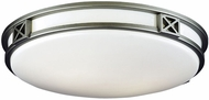 Philips F2060-12U Crossroads Contemporary Fluorescent Silver Flushmount - 16 inches wide