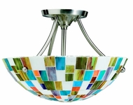 Kichler 65215 Tiffany Art Glass Creations 14 Inch 2 Light Semi Flush Ceiling Fixture