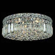 Worldwide 33506 Worldwide 14  4-light Crystal Flush-Mount Ceiling