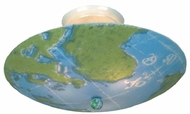 Landmark 205-WM Kidshine Childrens World Map Semi Flush Ceiling Fixture