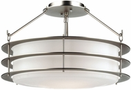 Philips F1546-62 Hollywood Hills Contemporary Metallic Silver Semi-Flush Ceiling Light