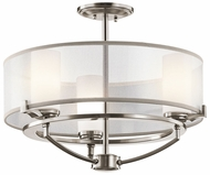 Kichler 42923CLP Saldana Convertible Semi-flush Mount/Pendant Lighting Fixture