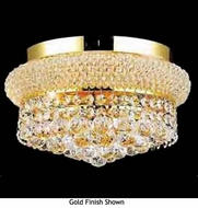 Worldwide 33019 Worldwide 4-light Crystal Style Semi-Flush Ceiling Light