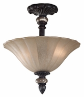 Kenroy Home 80290MBZ Leafston Semi-Flush Ceiling Light