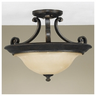 Feiss for Less SF231LBR Cervantes Traditional Semi-flush Ceiling Light