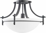 Kichler 3678-DBK Olympia Distressed Black Modern Single Light Semi Flush