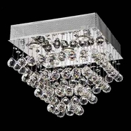 Worldwide 33243 Worldwide Square 16  5-light Crystal Style Ceiling Light