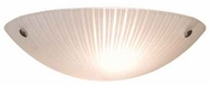 Artcraft AC6210 Linen Glassware Small Modern Striped Flush-Mount Ceiling Light