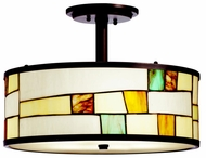 Kichler 65345 Mihaela Semi-flush Tiffany Ceiling Lighting