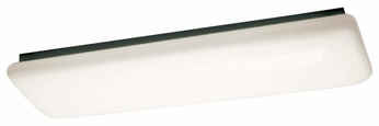 Kichler 10301WH Small Fluorescent 2 Light Flush Mount Ceiling Light Fixture