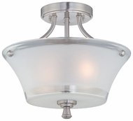 Lite Source LS5732 Niccolo Modern 2-lamp Semi-flush Overhead Lighting