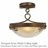 Kalco 5757sz Newport Semi-Flush Ceiling Light